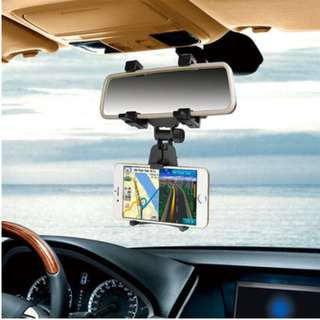 Universal Car Rear View Mirror Mount Adjustable Phone Holder - 倒後鏡電話座 - S1712