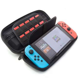 [IN-STOCK] Switch Deluxe Travel Carrying Case with (19 Game Card and 2 Micro SD Card Holders) by ButterFox - Black