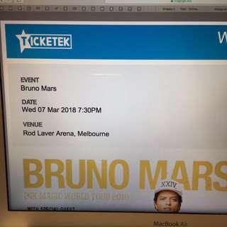 Bruno Mars Ticket (Urgent sales)