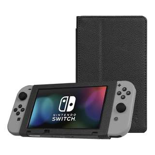 [IN-STOCK] Fintie Protective Case for Nintendo Switch - Premium PU Leather Slim Fit Play Stand Cover for Nintendo Switch 2017, Black