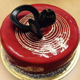 法式鏡面紅苺蛋糕 Raspberry Cake (Glassy + French Style)