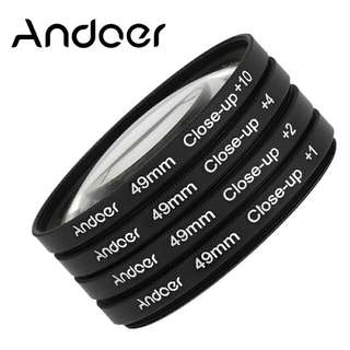Cheap! Andoer 49mm Macro Close-Up Filter Set +1 +2 +4 +10 with Pouch for Nikon Canon Sony DSLRs
