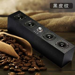 [In Stock] Classic Black Wood Long Speaker with Bass