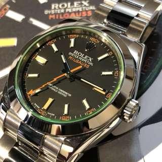 Rolex-116400-綠玻璃-亂碼!