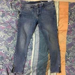 Authentic Men's Zara Skinny zipper Jeans Size 32us