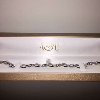 ✨ANGUS & COOTE✨ Sterling Silver | Cubic Zirconia Infinity Bracelet