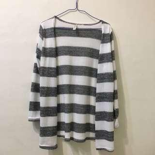 🚚 條紋針織衫(長板