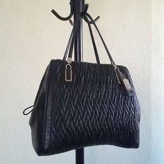 ▪ new ▪ COACH 2-way leather handbag (M/black)