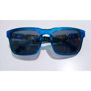 PRE💙 BLUE SUNGLASSES / KACAMATA HITAM FRAME BIRU