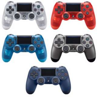 BRAND NEW Authentic Sony PlayStation 4 PS4 Wireless Controller WHITE CRYSTAL / BLUE CRYSTAL / RED CRYSTAL / MIDNIGHT BLUE / STEEL BLACK Colours Play Station For Console Fat Slim Pro