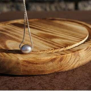 灰珍珠頸錬 Grey Pearl Chain