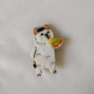 柴犬 狗仔 食pizza🍕 胸針 扣針