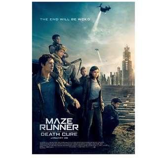 Maze runner the death cure large poster teaser version