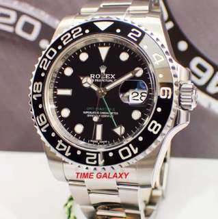 Brand New ROLEX Oyster Perpetual GMT-MASTER II 40MM Automatic Stainless Steel Watch. Swiss made. Ref model : 116710LN