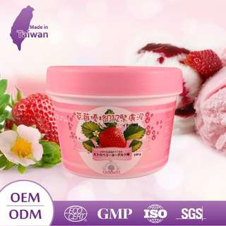 Strawberry smoothie face mask