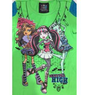 Neon Green Monster High Lace Top