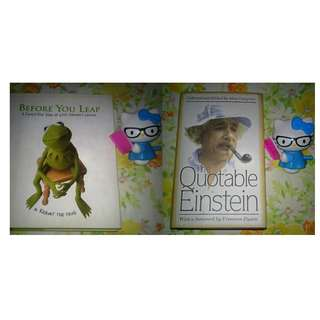 KERMIT & EINSTEIN BOOK PAIR Before You Leap: A Frog's-Eye View of Life's Greatest Lessons by Kermit the Frog & The Quotable Einstein by Alice Calaprice