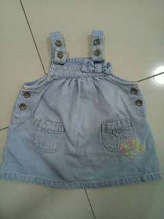 poney baby girl jeans dress