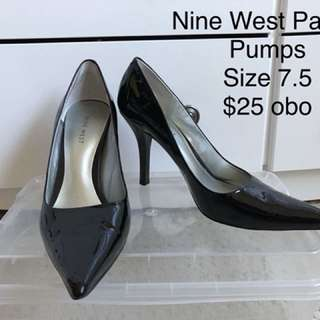 Nine West Patent Pointed Pumps