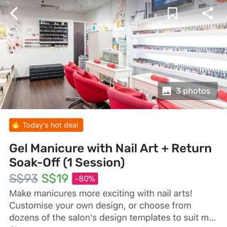 Gel manicure at Specialist Nail & Beauty Spa (Fat East Plaza)