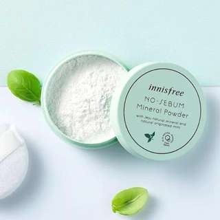 ✨INSTOCK! Innisfree No-Sebum Mineral Powder