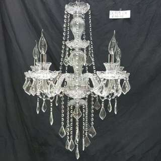 Lampu gantung lilin chandelier 5 cabang
