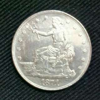 Uang Coin Trade Dollar th.1871