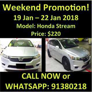19-22 Jan Honda Stream