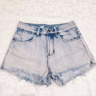 REPRICED HW Acid Washed Shorts