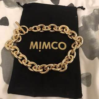 Mimco gold chain necklace