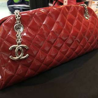 Chanel 菱格漆皮鍊袋 90%new 有塵袋 有盒 無單 已買多年但好少用