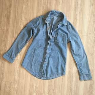 全新❤️淺色牛仔襯衫/外套