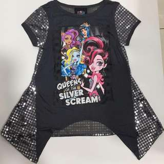 Monster high character fashion sequin top