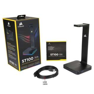 Corsair ST100 RGB Premium Headset Stand with 7.1 Surround Sound (AP) (CA-9011167-AP)
