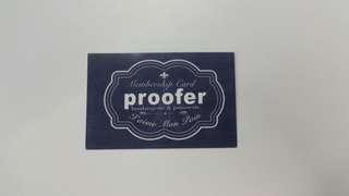 Proofer Membership Card
