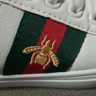 Gucci ace beetle shoe