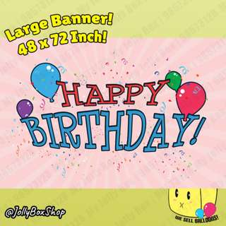 Large Happy Birthday Banner For Sale | 48 x 72 Inch | Jolly Box 98573128