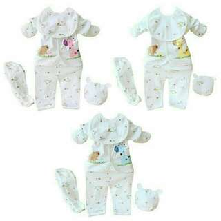 Newborn baby cotton shirt and pants long sleeved set