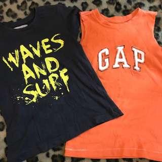 Gap Sleeveless/ Zara boy shirt