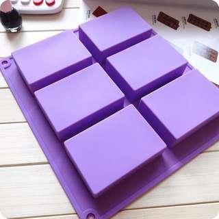 🚚 定做硅胶蛋糕模具长方形手工皂模具8*5.5*2.5CM 100ml (厚180G