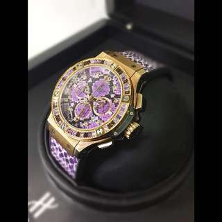 Hublot Big Bang Rose Gold Purple Python Boa