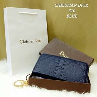 DIOR Cannage Purse Blue Color