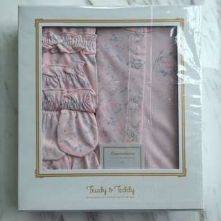 Trudy & Teddy New Born Gift Set- Full Print Pink