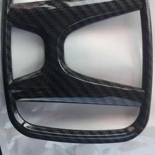 Honda front emblem(carbon looks)