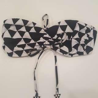 Seafolly bandeau bikini top with detachable straps