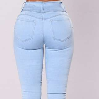 Fashion Nova light blue booty jeans