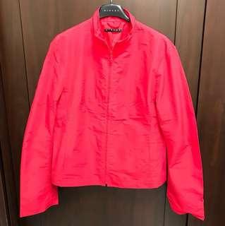Sisley 紅色風衣短外套