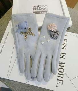 可愛小熊手套
