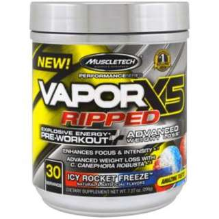 Muscletech, Performance Series, VaporX5 Ripped, Icy Rocket Freeze, 7.27 oz (206 g)