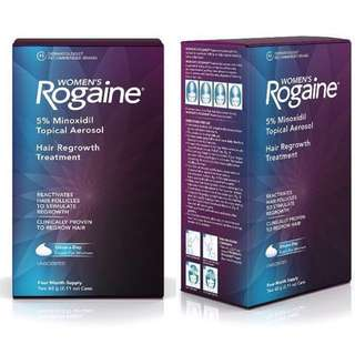 Women's Rogaine Treatment for Hair Loss and Hair Thinning Once-A-Day Minoxidil Foam | $72 (Original packaging with 2 tubes/4 month supply), $40 (1 tube loose, no box)